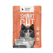 SMART CAT - Паучи для взрослых кошек и котят кусочки индейки в нежном соусе