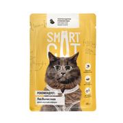SMART CAT - Паучи для взрослых кошек и котят кусочки курочки в нежном соусе