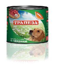 """""""трапеза """"с говядиной"""" - консервы для собак"""